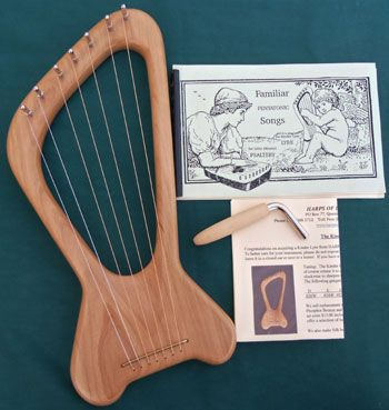 Harps of Lorien ~ Quality hand-crafted instruments ~ Kinder Lyre 15x7x2