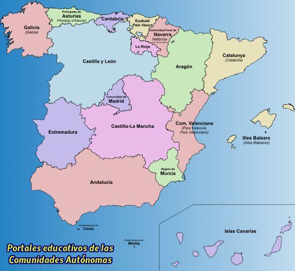 Portales educativos de las Comunidades Autónomas | educacionmusical.es