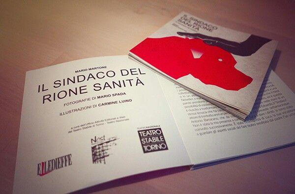 Il sindaco del rione Sanitá di Eduardo de Filippo. Regia di Mario Martone. Poster design Carmine Luino