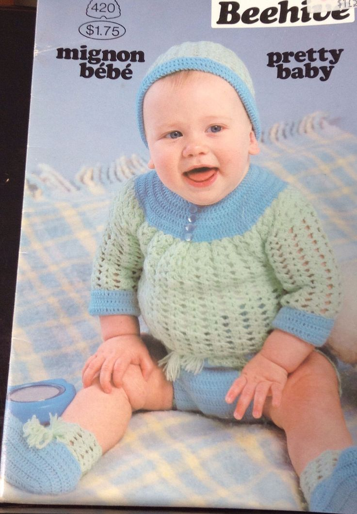 A personal favorite from my Etsy shop https://www.etsy.com/ca/listing/522218675/vintage-beehive-baby-knitting-booklet