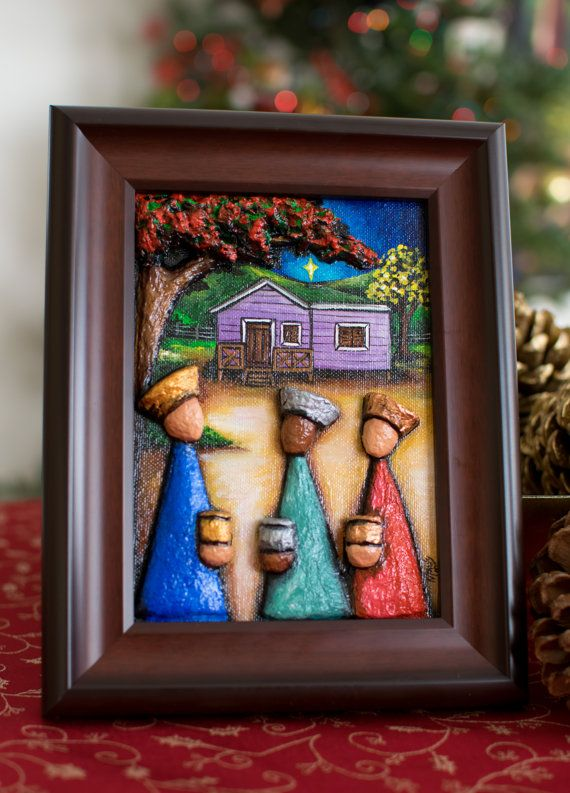 Recycled paper Three Kings In a Puerto Rican by ArtesaniasCalichi