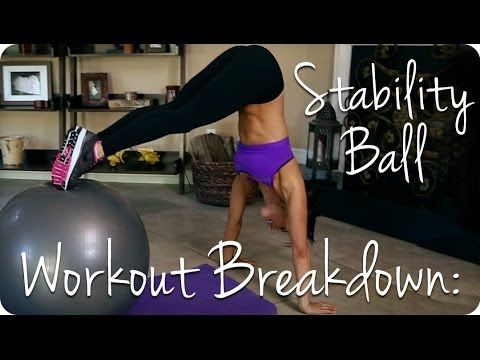 Workout Breakdown: STABILITY BALL | Autumn Fitness If you have a Stability Ball Check out this full body workout!