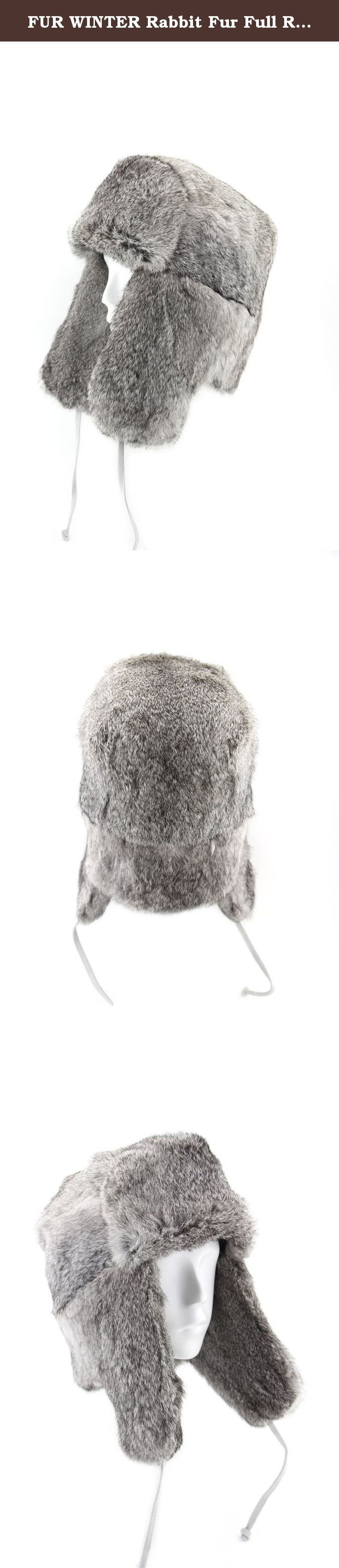 FUR WINTER Rabbit Fur Full Russian Ushanka Soviet Army Military Soldier Hat GRY M. FUR WINTER Full Russian Hat, we put our half century professional and built our reputation on these hats which are designed for warmth and style. This FUR WINTER Rabbit Fur Full Russian Hat offers high quality with stylish design based on classic model. It was made by season rabbit fur on both sides; it not only keeps your head warm and comfortable in cold winter, but does also make you fashionable and...
