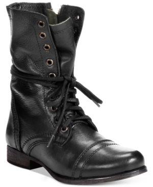 Steve Madden Women's Troopa Combat Boots - Black 6M