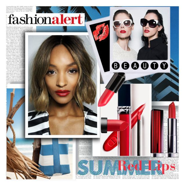 Summer Red Lip by stylepersonal on Polyvore featuring polyvore, beauty, Maybelline, Ardency Inn, NARS Cosmetics, H&M, Zac Posen, BeautyTrend and redlips