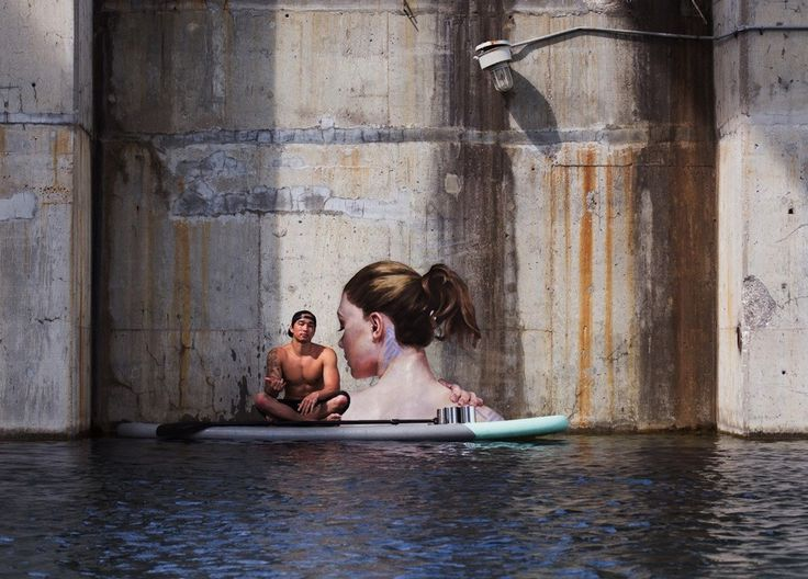 #street_art #streetart #sean_yoro #water #artist #paint #ocean #surf #hula #oil_paint #kahu #lewa #noipic