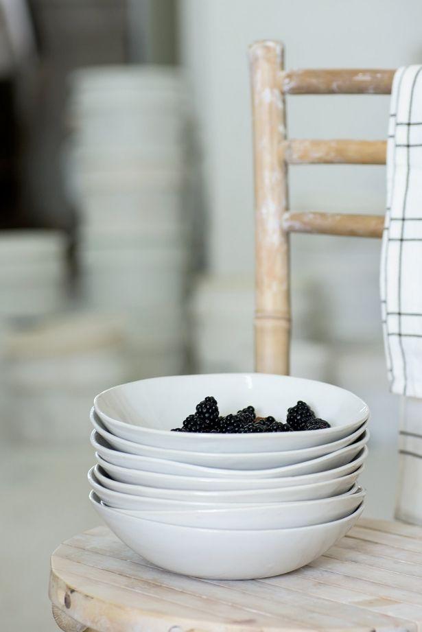 Handmade Ceramic Chic Beach Style Bowl - Gray, White, Matte Black Or Aqua Green by 1220 Ceramics Studio on Gourmly