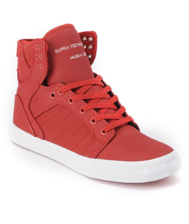 Supra Skytop Red Express TUF Canvas Skate Shoe $120