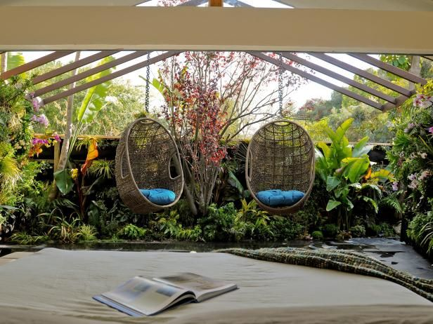 See how Jamie Durie and more top HGTV designers create cozy outdoor rooms on HGTV.com.
