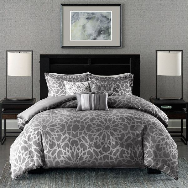 Madison Park Elena 7-pc. Comforter Set (370 CAD) ❤ liked on Polyvore featuring home, bed & bath, bedding, comforters, king size comforter, king size bedding, king shams, king bedding and king comforter set