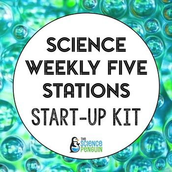 I'm so excited to offer this start-up kit for Science Weekly Five stations. This start-up kit includes the following items and information:About Science Weekly FiveSetting UpTips and TricksManagement TipsGrouping BookmarksStation SignsStation DirectionsStudent Recording Packets (2 kinds to choose from).......................................................................................Want to try the units?You can find affordable Science Weekly Five stations units here.Or, try the…