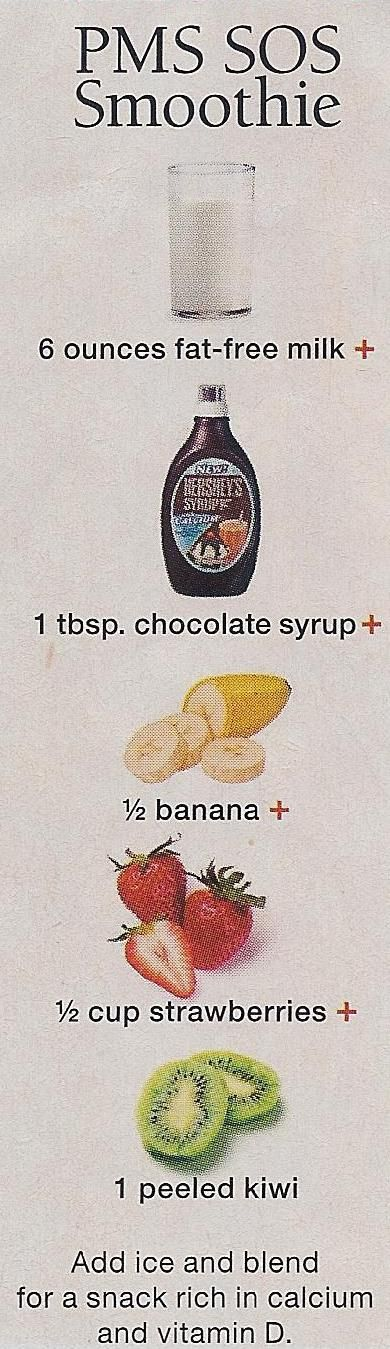 PMS SOS Smoothie. Will probably NOT regret pinning this ... could sub in some walden farms chocolate syrup & cocoa instead of the hersheys..