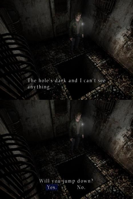 """After a while of seeing the shit you do in Silent Hill you kinda just say """"fuck it"""""""