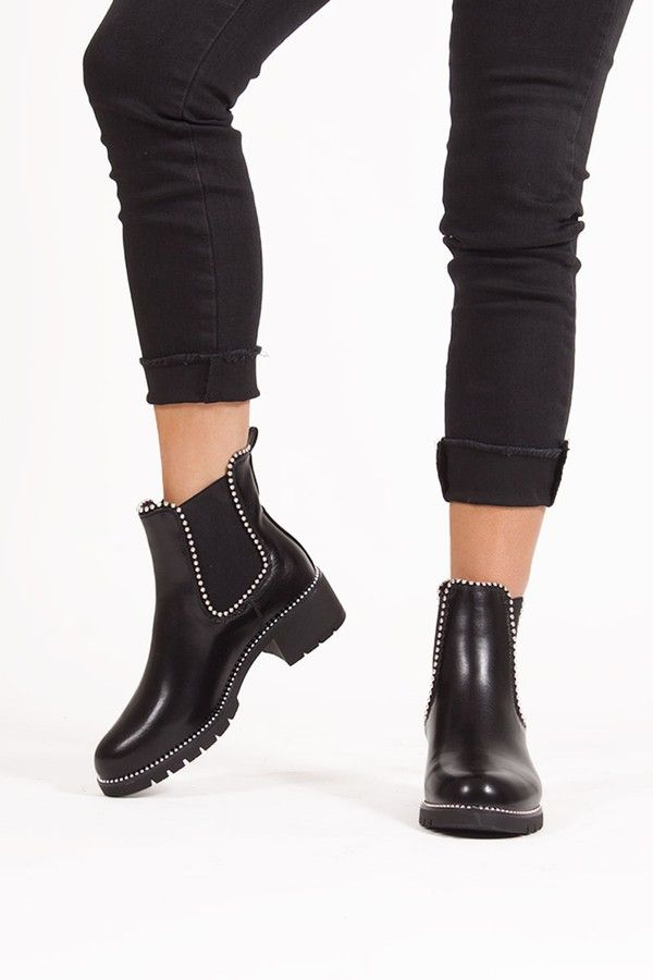 Alex Black Stud Chelsea Boots in 2020