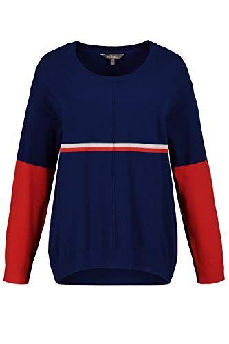 Ulla Popken Damen große Größen bis 64 Pullover aus weichem Feinstrick Colorbl… – amazonmode