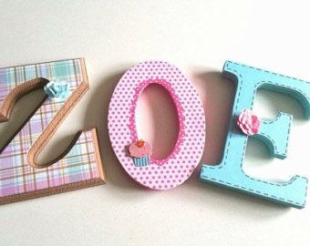 Custom wooden letters / NUrsery custom wood by MissiCreation