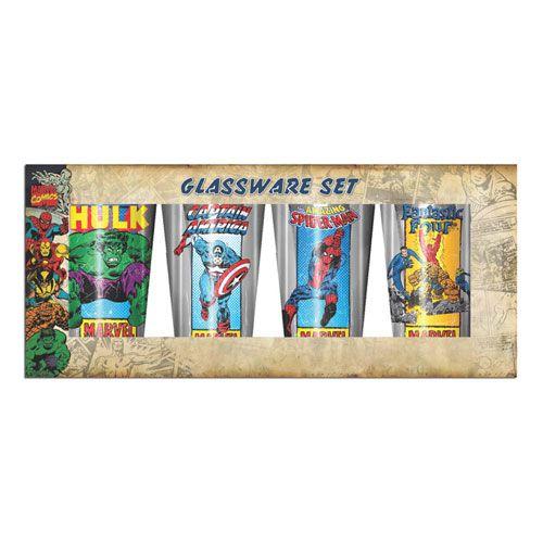Supecoola Marvel hjältar glas set från Marvel. Massor av coola glas och Marvel prylar online till bra priser hos Scifishop.se