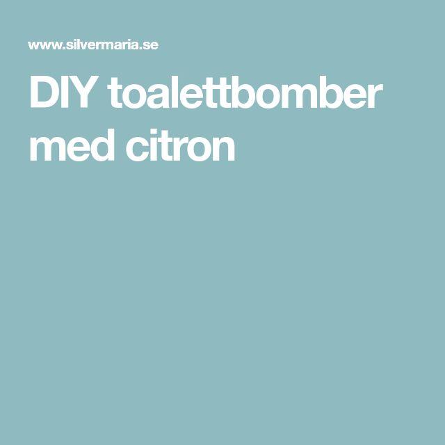 DIY toalettbomber med citron