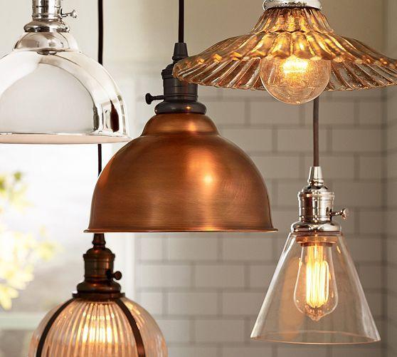 Kitchen Pendant Lighting Pottery Barn: PB Classic Cord Pendant - Metal Bell