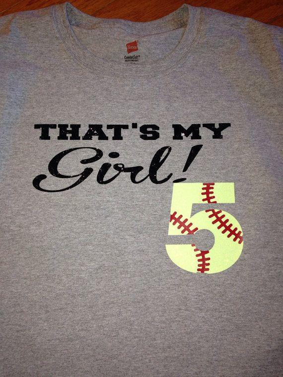Custom Softball Number Shirt Sports Softball by MissyLuLus on Etsy