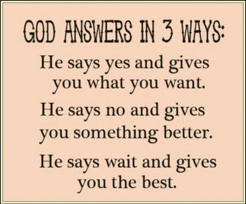 Motivational Quotes: quotes about god quotes about god God Answers in 3 ways