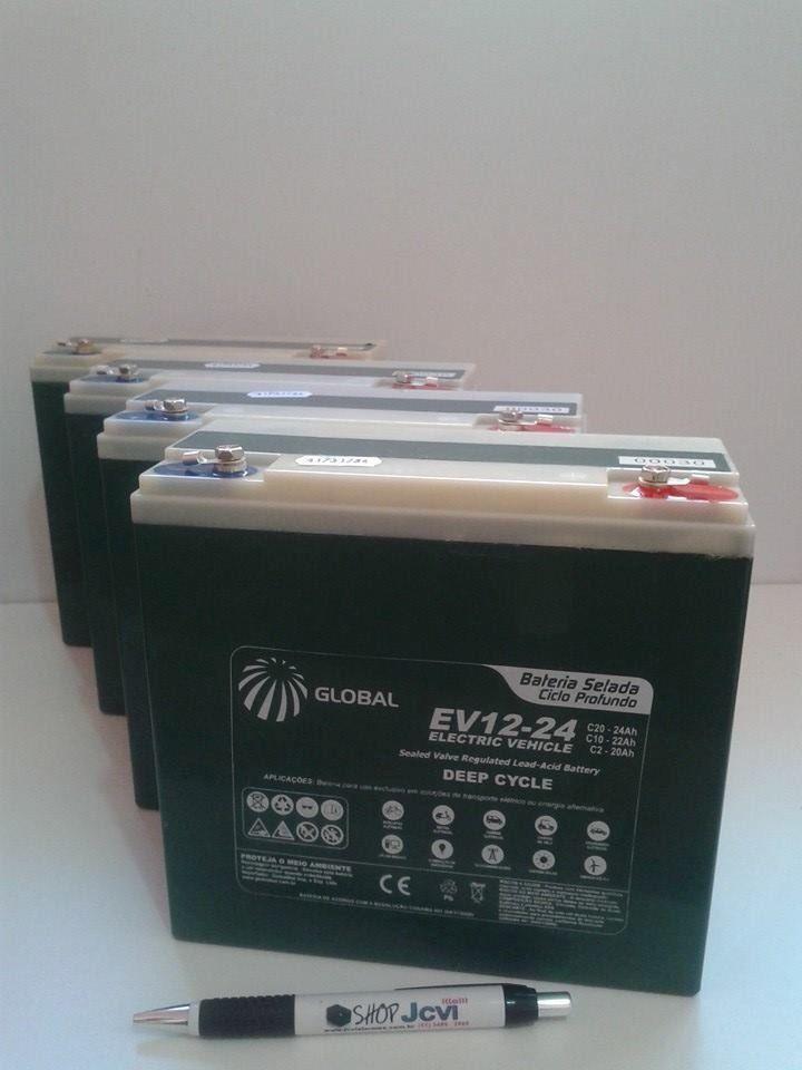 (1) Kit 4 Bateria Gel Global 48v 20ah Ciclo Profundo 6-dzm-20 - R$ 1.299,00 no MercadoLivre