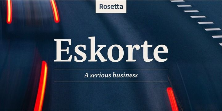 Eskorte (50% discount, from 22,50€) - http://fontsdiscounts.com/eskorte-50-discount-from-2250e/
