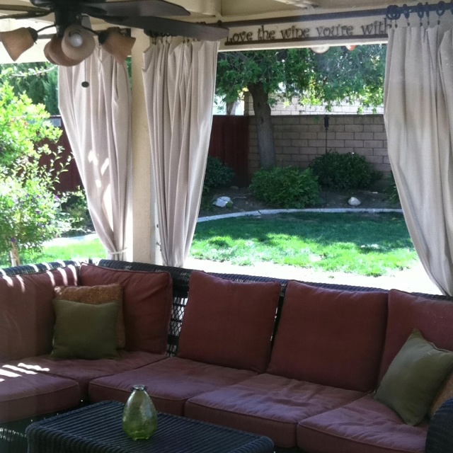 Home Depot Decorations: Curtains Made From Home Depot Painters Tarps $15.00 Per
