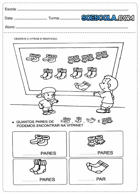 Atividades de matemática 2° ano ensino fundamental