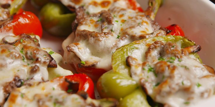 Here's a must-read article from Delish: Cheesesteak Stuffed Peppers