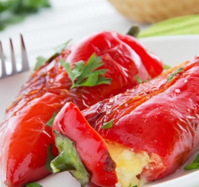Recept Grilované papriky s feta