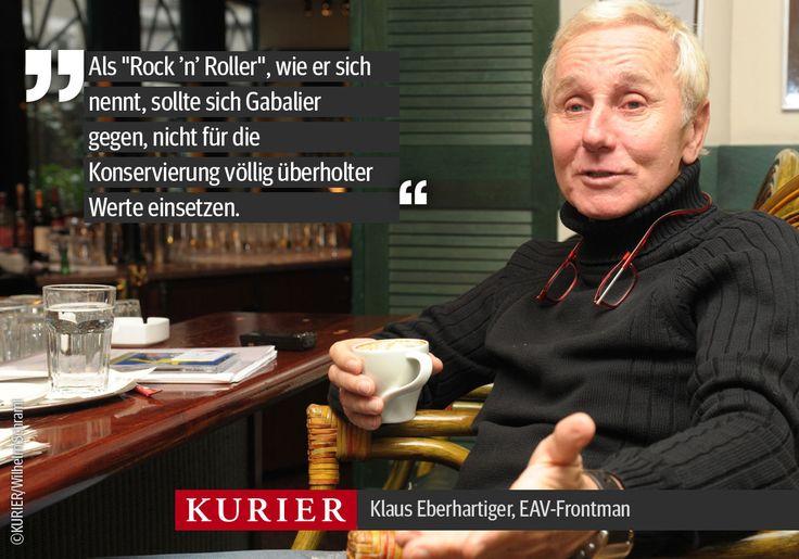 Klare Haltung. EAV-Sänger Klaus #Eberhartinger im KURIER-Interview mit Daniela Schimke. http://kurier.at/menschen/im-gespraech/eberhartinger-gabalier-ist-keine-heilige-kuh/105.227.055
