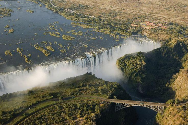 Las cataratas victoria, Zambia y Zimbabue