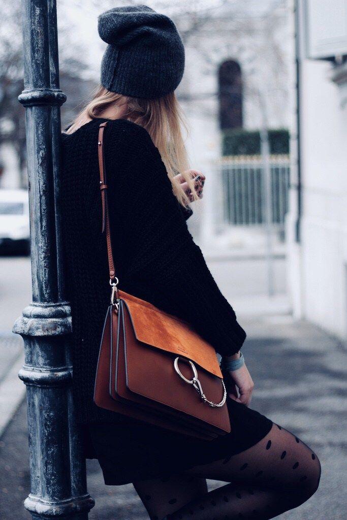 Sur le blog, je vous présente un nouveau look d'hiver avec mon sac Chloé Faye ! #winterlook #lookhiver #mode