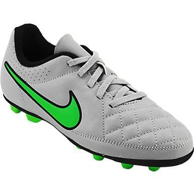 Nike Jr Tiempo Rio 2 FG R Outdoor Soccer Cleats - Boys Black White Black