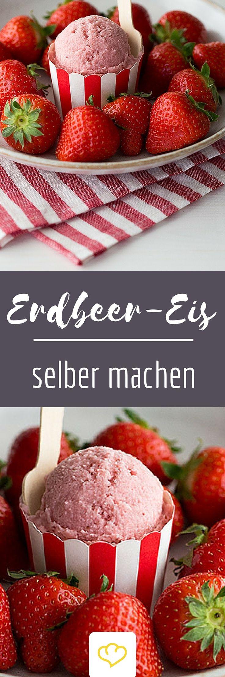 Genieße den Klassiker - mit diesem einfachen Rezept für köstliches Erdbeereis. Oder nutze es als Grundlage für deine eigenen Erdbeer-Eis-Variationen.