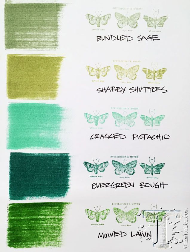 cracked pistachio - the first new distressed ink color introduced in January…