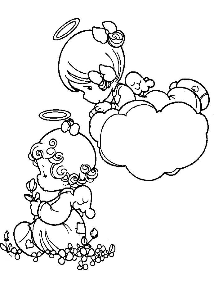 Preciousmoments 07 Coloring Page For Kids And Adults From Cartoons Pages Precious Moments