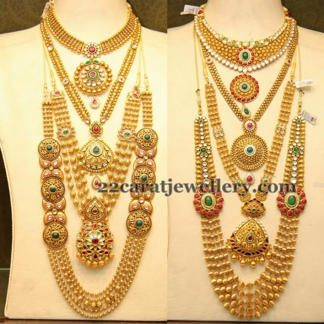 Jewellery Designs: Complete Antique Gold Wedding Jewelry