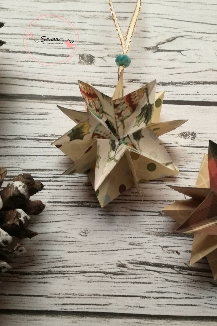 Estrellita navideña scrapbook DIY