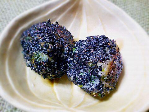 ほっこり素朴な味の副菜です♪ - 100件のもぐもぐ - 里芋大根葉のおかず胡麻団子 by Kusukus