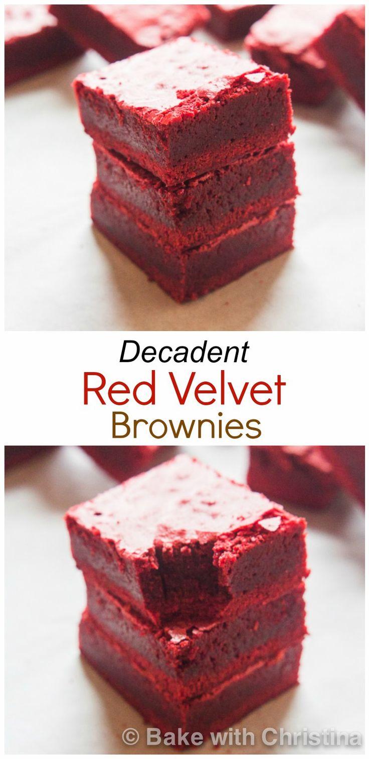 Red Velvet Brownies-12