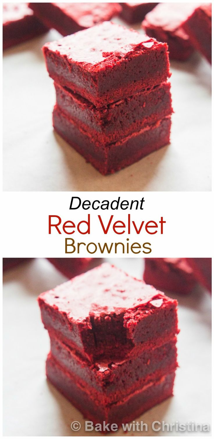 Red Velvet Brownies-12