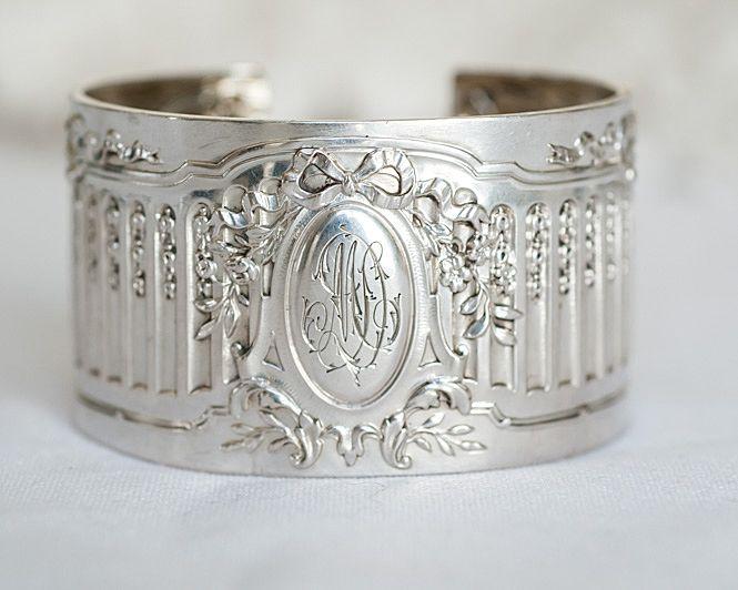 Just in! Large Karen Lindner Antique Sterling Silver Napkin Ring Cuff