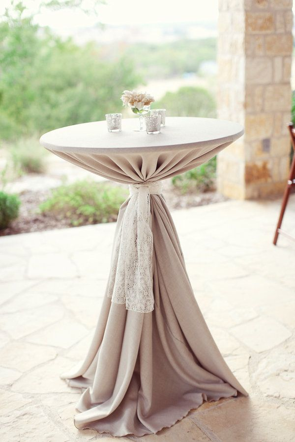 Ordinary High Top Table Linens Part - 9: Cocktail Tables, Love The Lace Wrap