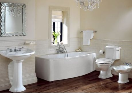 Canterbury Berkeley Pedestal Basin and toilet for a traditional look, perfect when considering your next bathroom renovation | Sydney Tap and Bathroomware