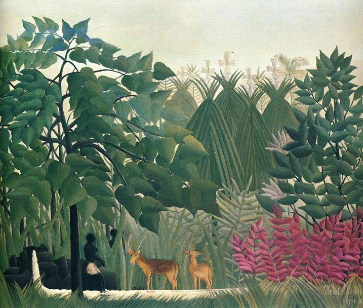 """""""La cascata"""", 1910 - Henri Rousseau."""