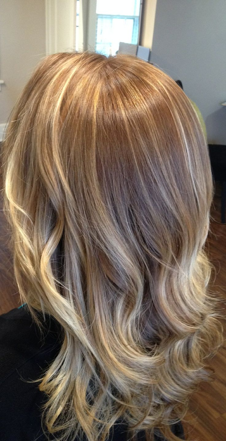 golden blonde with California blonde inspired highlights and lowlights ...