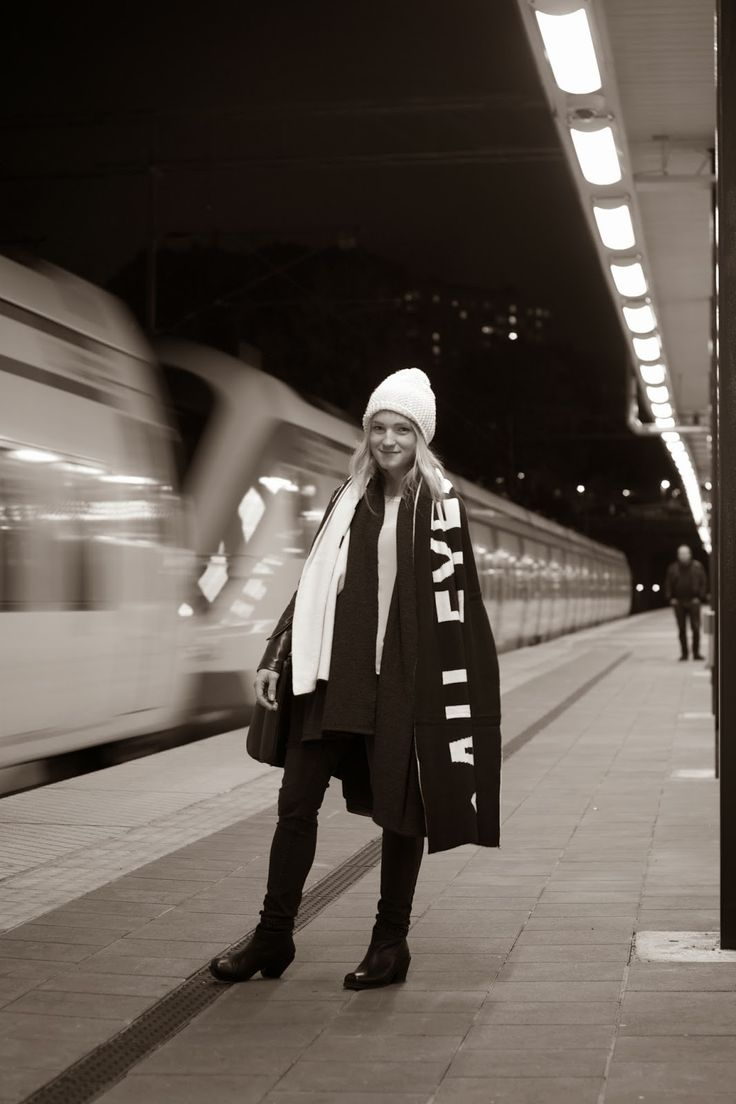 Wearing: Shawl Coat, 100€  Available here: http://on.fb.me/1b6z4B0  At Solna Station. http://thegradientskies.blogspot.se/2013/10/solna-station.html