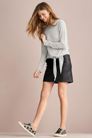Buy Grey Tie Front Sweater from the Next UK online shop
